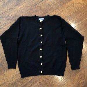 Pendleton Vintage Black Cardigan Wool Sweater S